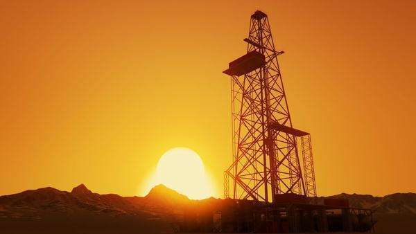 Footage Of A Drill Tower With Clear Sky During Sunrise Royalty-free stock video
