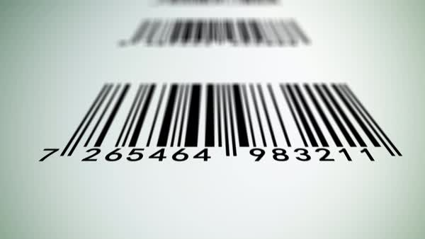 Animation of barcode scanning. Royalty-free stock video