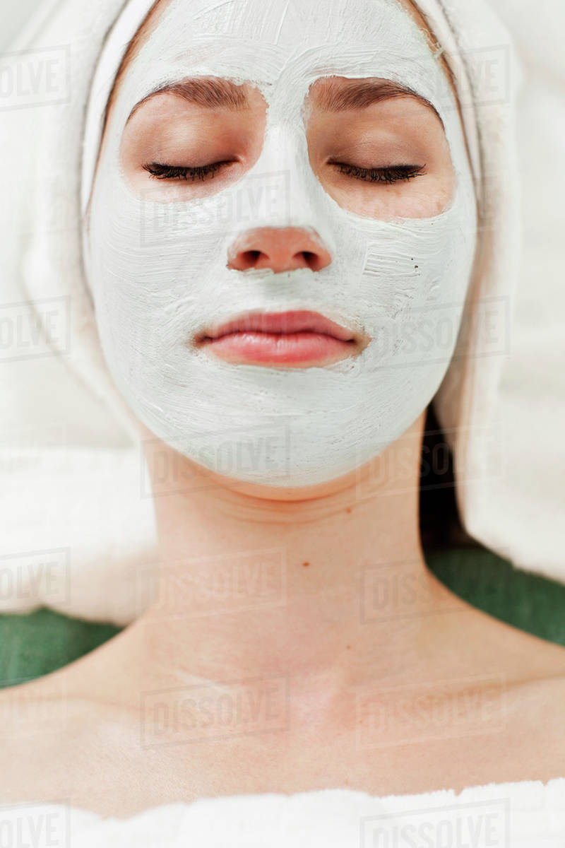 13 Spa 610 Face Woman Relaxing With Beauty At D929 Mask Young