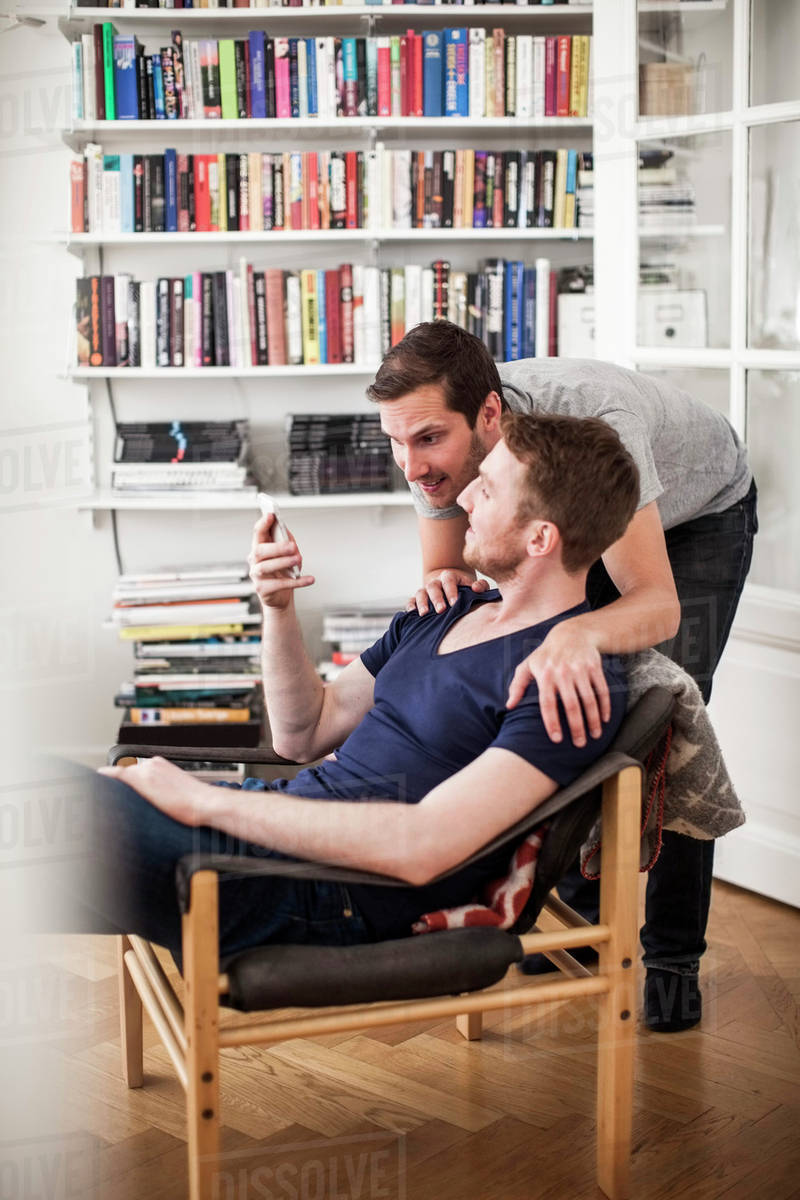 Gay men on mobile