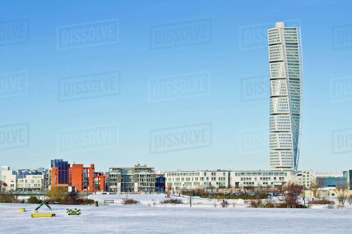 Turning Torso Apartment Building In Malmo