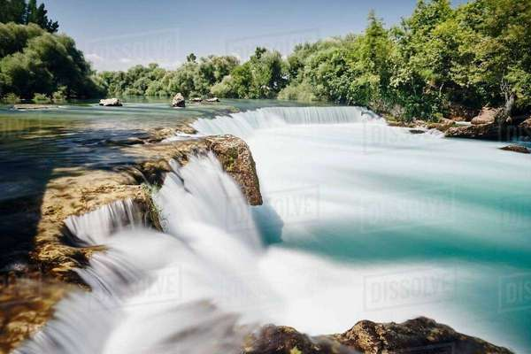 View of manavgat waterfall, Antalya,Turkey Royalty-free stock photo