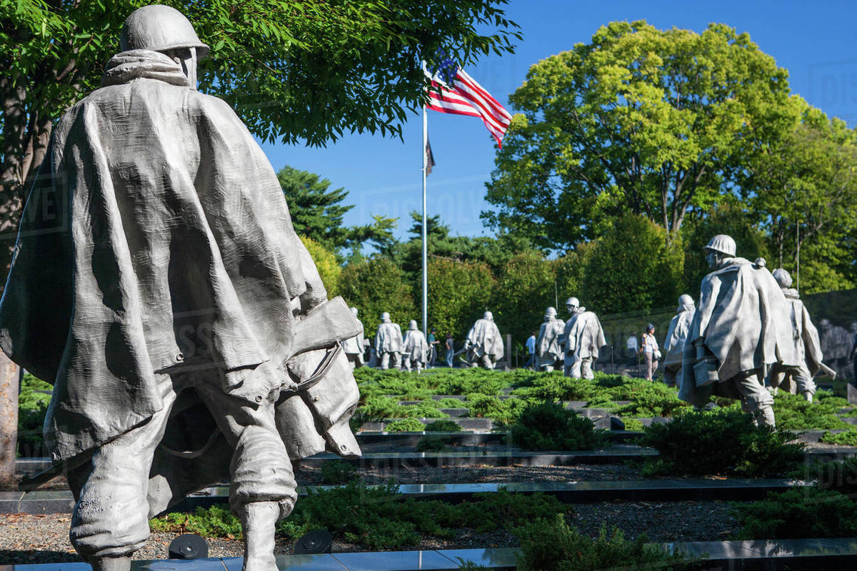 Korean War Veterans Memorial Washington Usa Stock Photo Dissolve