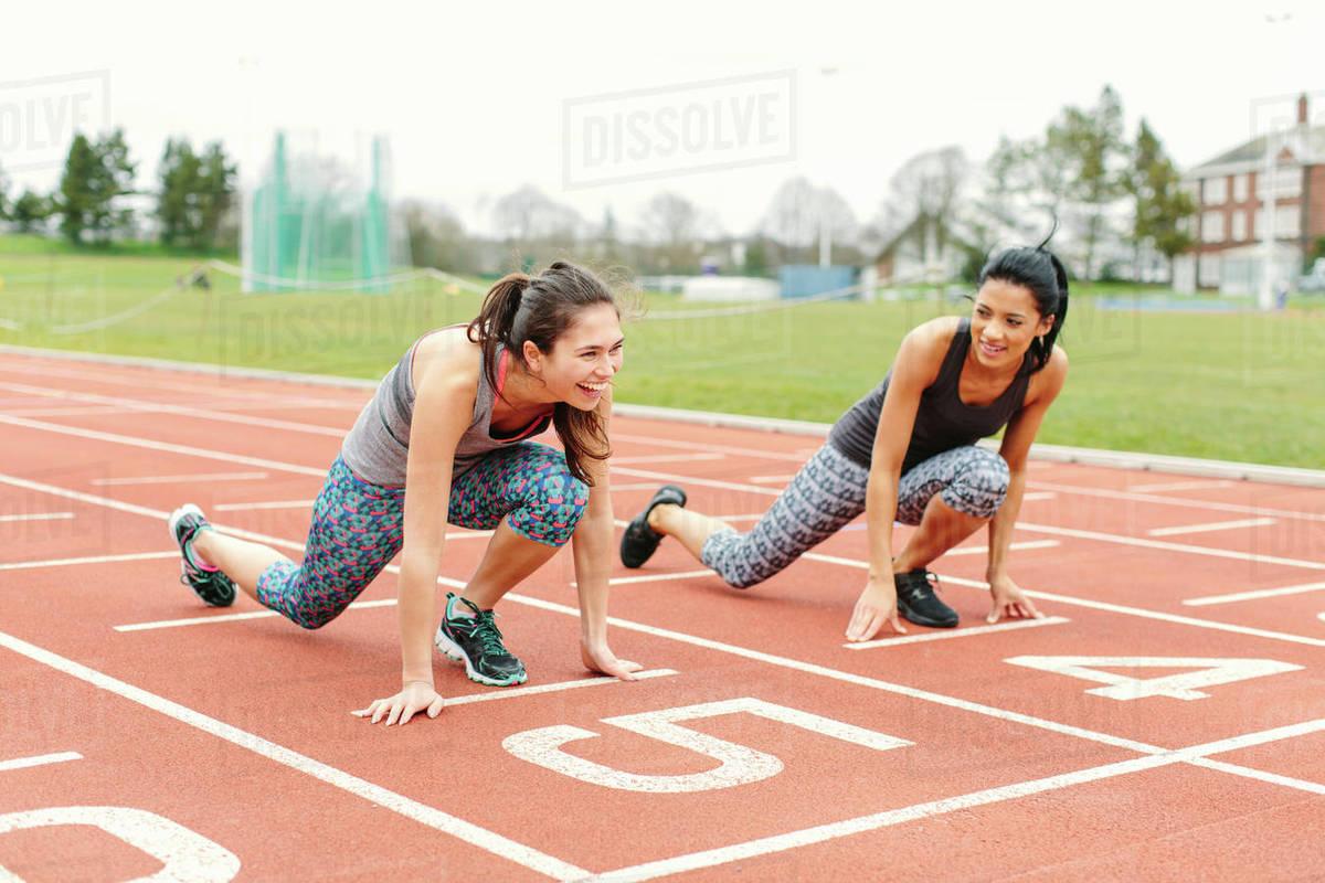 starting position on running track