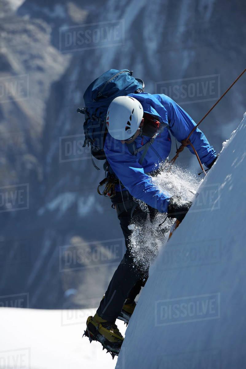 Mountain climber, Chamonix, Rhone-Alps, France Royalty-free stock photo