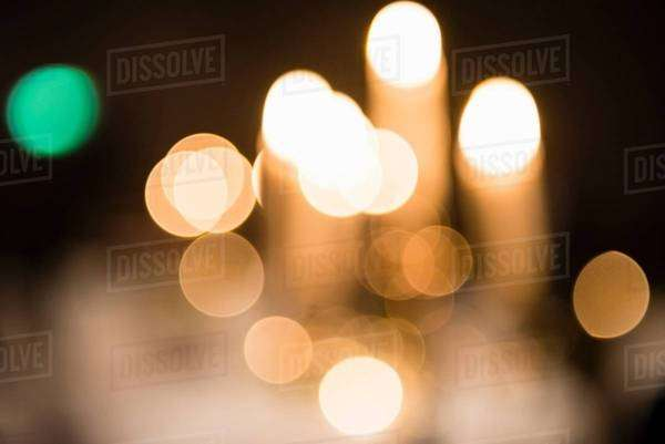 Abstract of defocused street lights at night Royalty-free stock photo