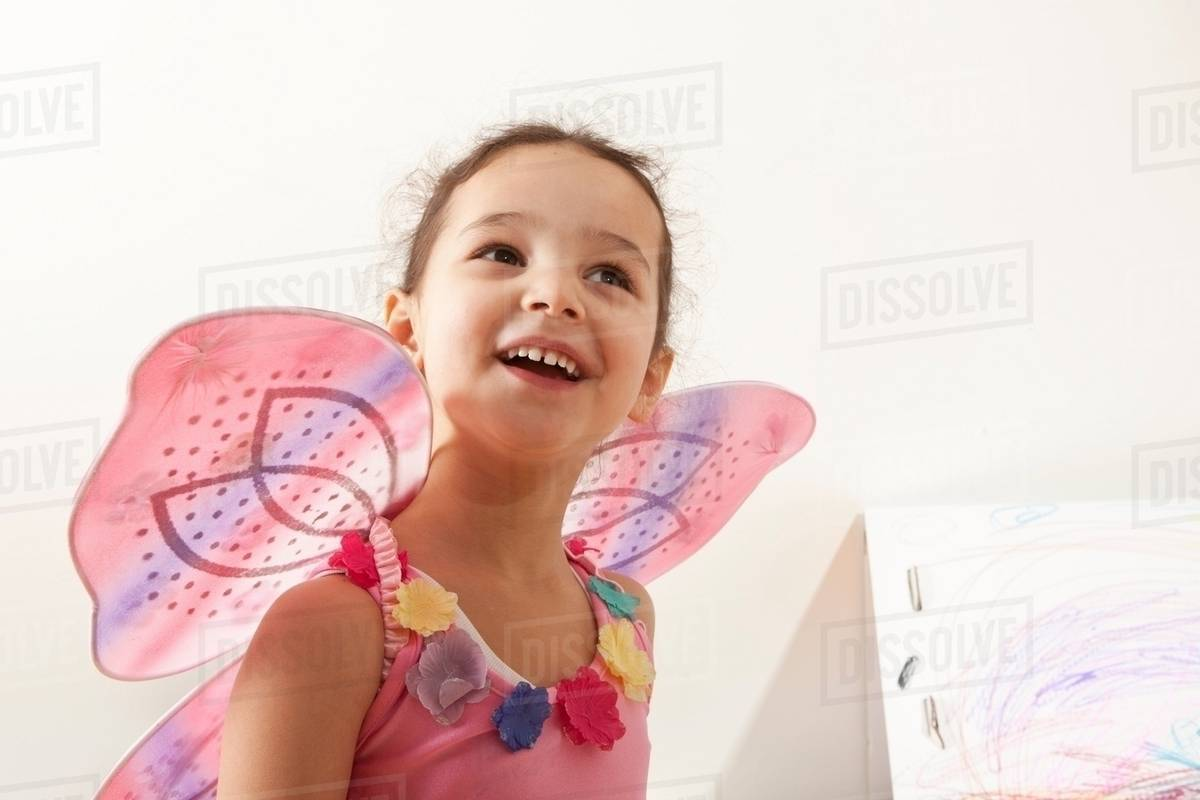 Little girl with fairy costume Royalty-free stock photo