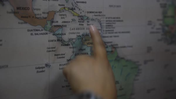 Fingers pointing to costa rica on world map stock video footage fingers tracing on a world map royalty free stock video gumiabroncs Image collections