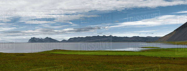 Lake and mountains, Iceland Royalty-free stock photo