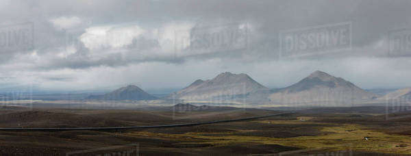 Barren landscape, Iceland Royalty-free stock photo