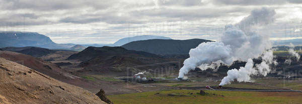 Geothermal power station, Iceland Royalty-free stock photo