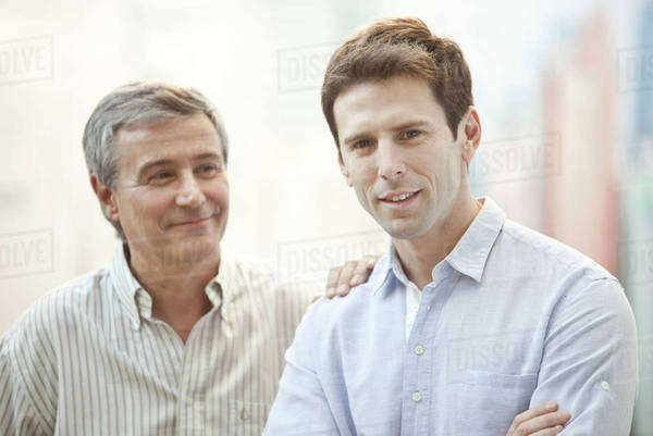 Adult son and father, portrait Royalty-free stock photo