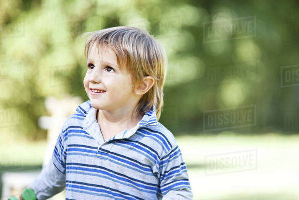Boy looking up Royalty-free stock photo