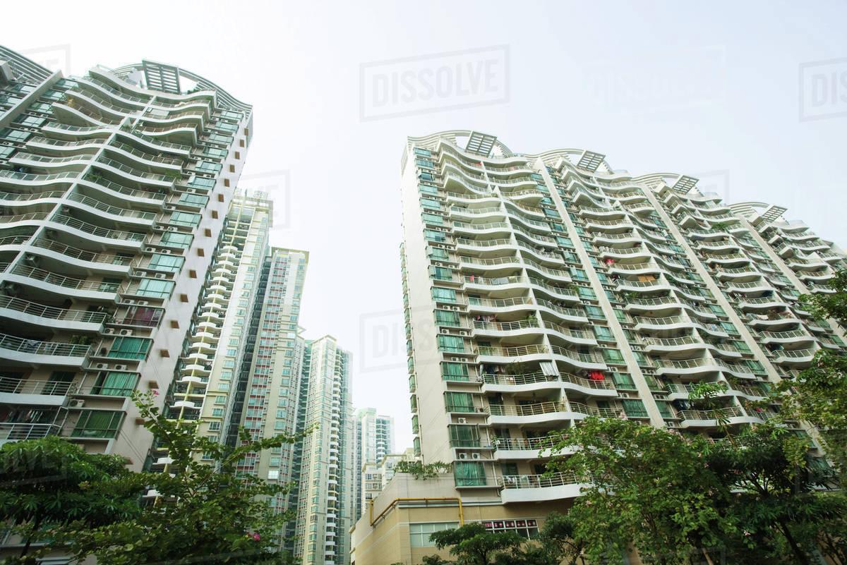 China Guangdong Province Guangzhou High Rise Apartment Buildings