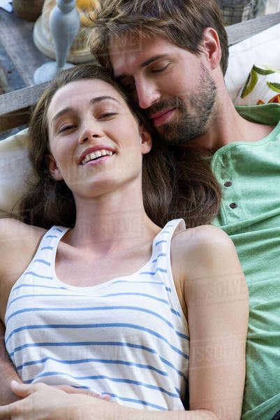 Young couple reclining together Royalty-free stock photo