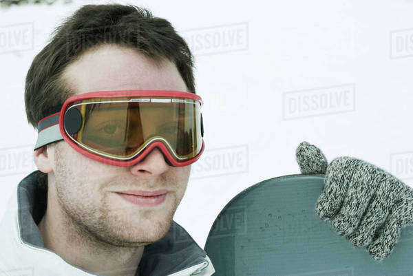 Snowboarder, portrait Royalty-free stock photo
