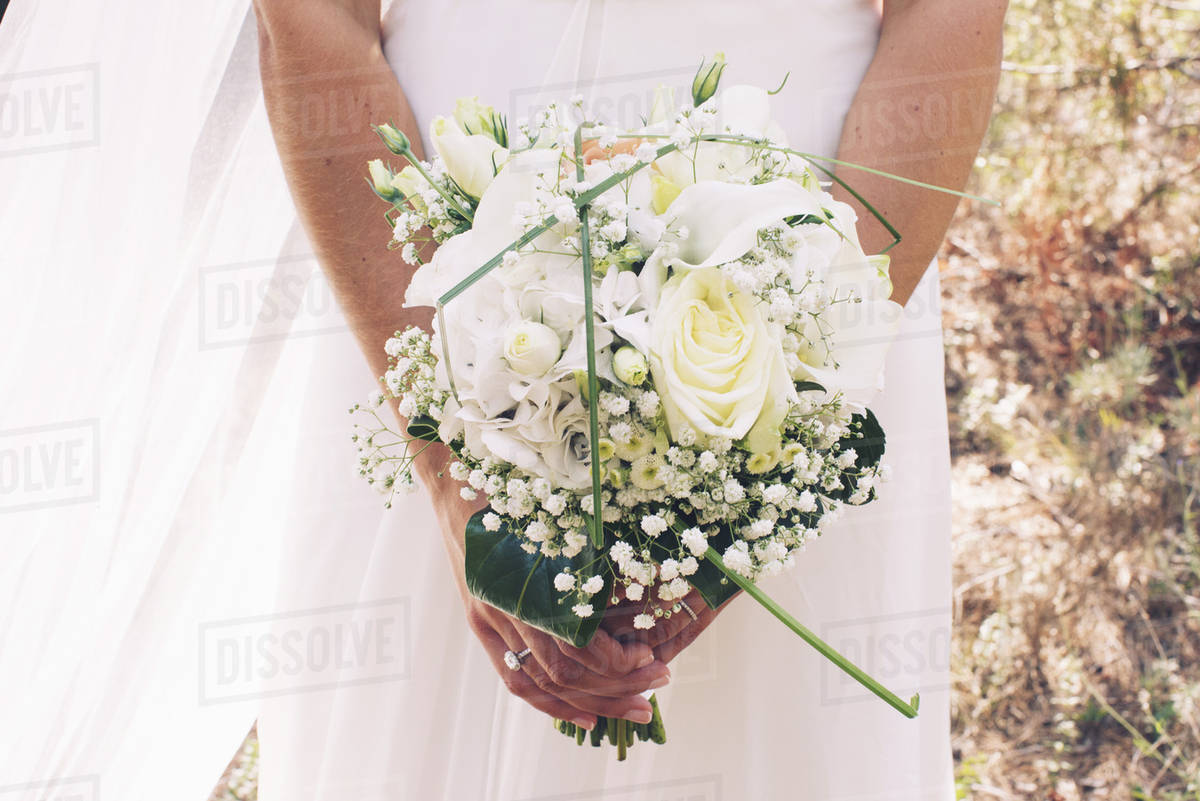 Bride holding bouquet of flowers cropped stock photo dissolve bride holding bouquet of flowers cropped izmirmasajfo