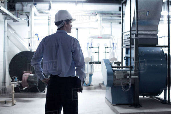 Industrial plant supervisor Royalty-free stock photo