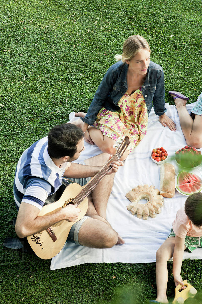 6c015a2ecd5c Summer picnic in the park with friends - Stock Photo - Dissolve