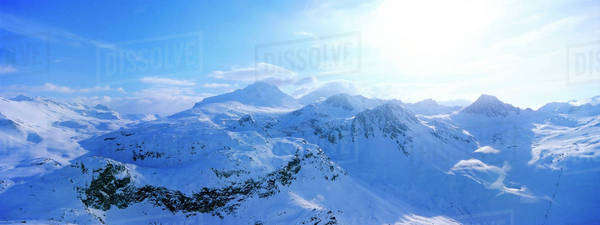 View of snow covered mountain range Royalty-free stock photo