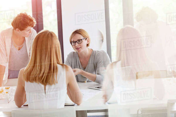 Businesswomen meeting in conference room Royalty-free stock photo