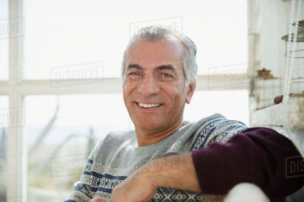 Portrait smiling, confident senior man Royalty-free stock photo