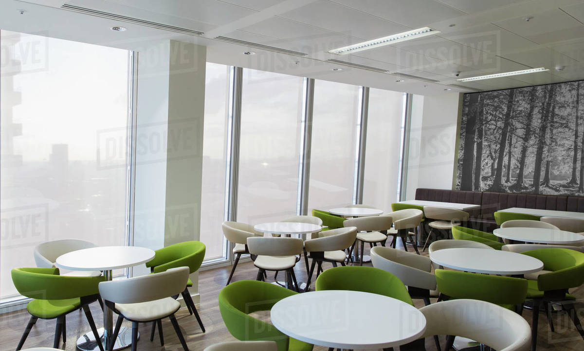 Tables and chairs in office lounge Royalty-free stock photo