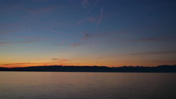 Static shot of Lake Constance during sunrise Royalty-free stock video