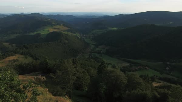 Wide shot of mountains in Black Forest, Germany Royalty-free stock video