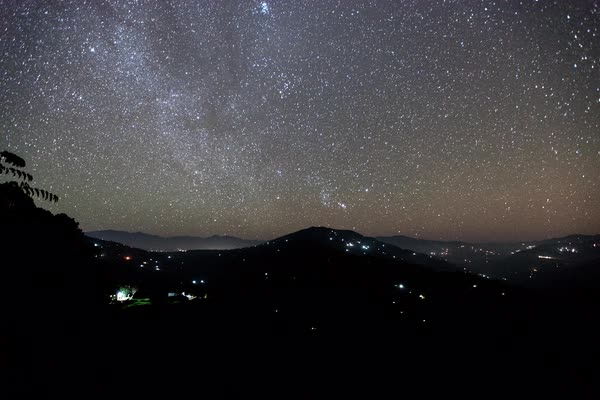 Timelapse of night sky over Nepal Royalty-free stock video