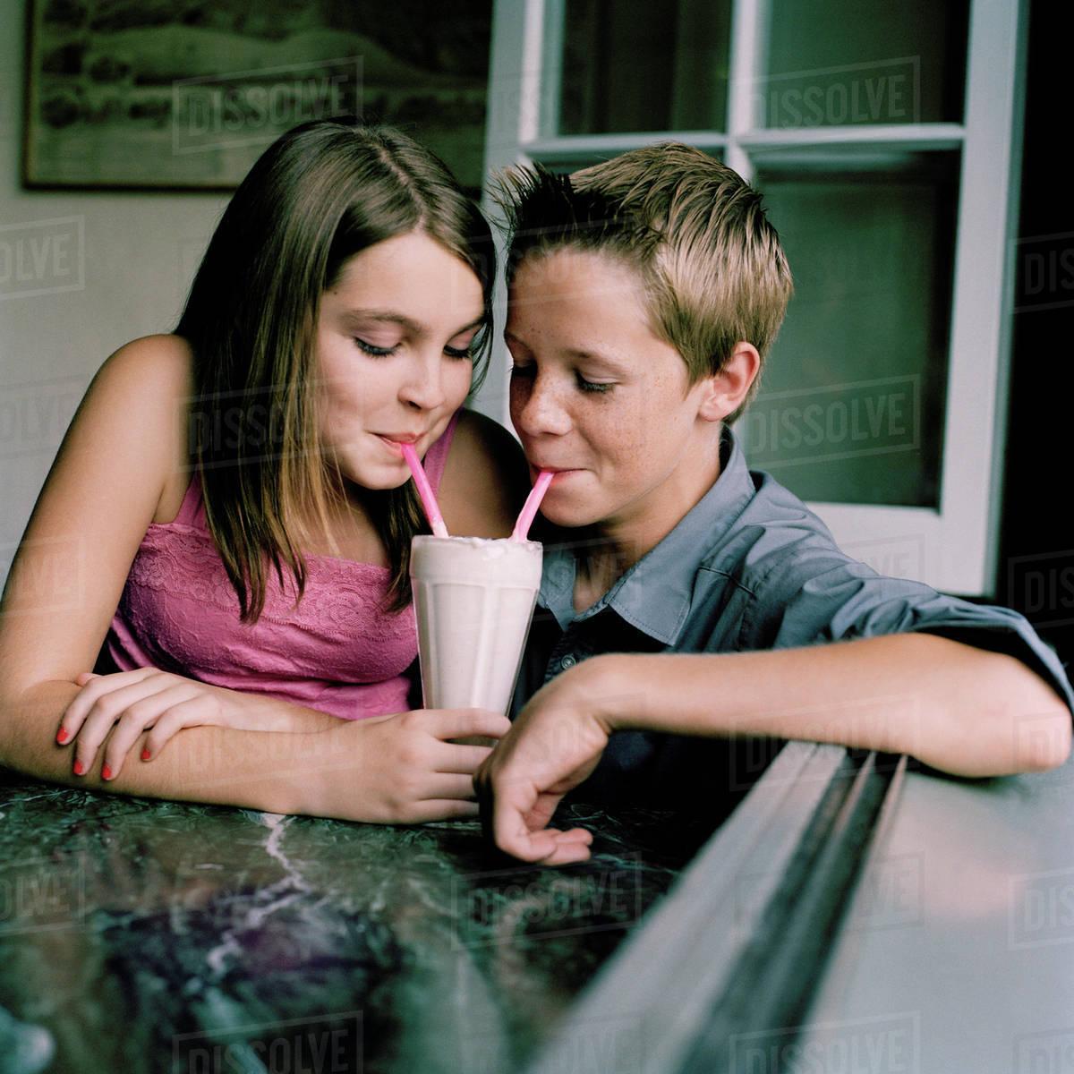 Young teen girl couple