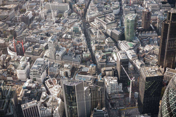 Full frame aerial view of city, London, England, UK Royalty-free stock photo