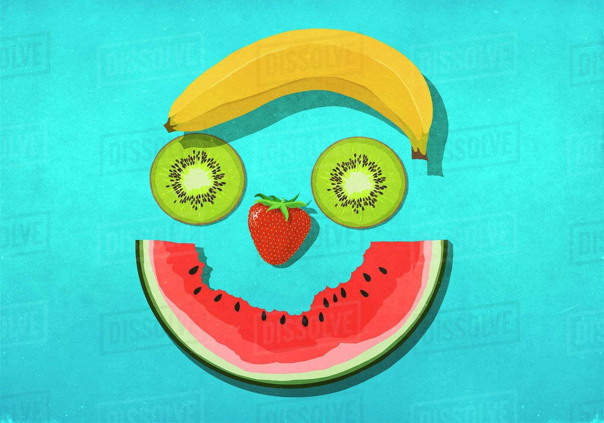 Fruit smiley face Royalty-free stock photo