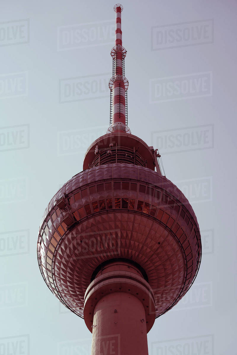 Low angle view of Television Tower, Berlin, Germany Royalty-free stock photo