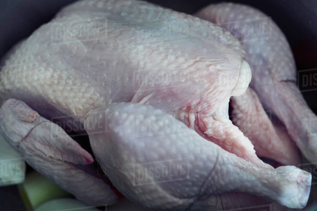 Close up raw chicken Royalty-free stock photo