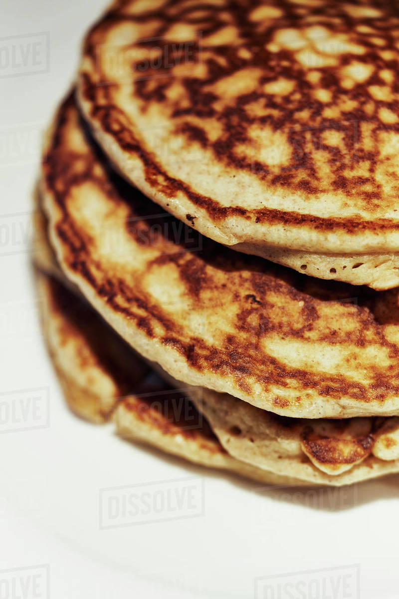 Close up stacked pancakes Royalty-free stock photo