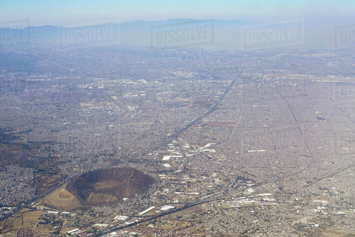 Aerial view Mexico City, Mexico Royalty-free stock photo